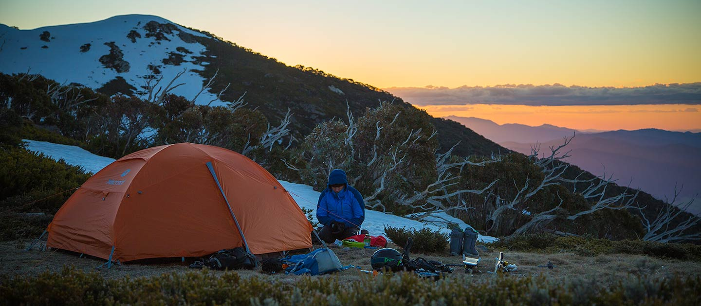 mt bogong backcountry snow camping